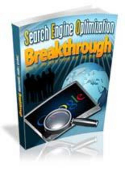 Product picture Search Engine Optimization Break through (MRR)